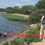 В Смоленском озере утонула легковая иномарка