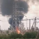 В Смоленской области загорелась электрическая подстанция (видео)