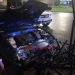 В Смоленске иномарка с пассажирами на ходу влетела в ограждение