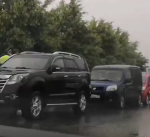Возле Владимирской набережной произошло массовое ДТП (видео)