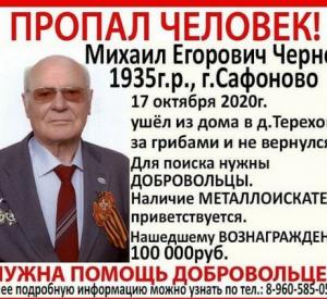 Родственники пенсионера, пропавшего в лесу под Смоленском, пообещали вознаграждение за его спасение