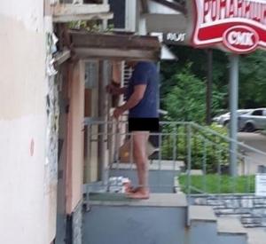 В центре Смоленска заметили эксгибициониста (фото)