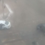 Момент жёсткого столкновения автомобилей выложили в сеть (видео)