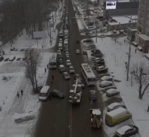В Смоленске из-за непогоды произошло множество аварий