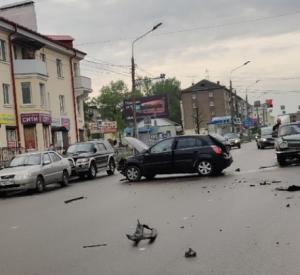 В результате массовой аварии на Медгородке госпитализирован человек