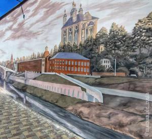 В Смоленске появилось еще одно граффити (фото)