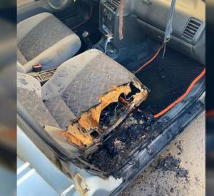 Смолянка разыскивает очевидцев поджога машины