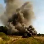 В Смоленской области сняли на видео аварию на газопроводе