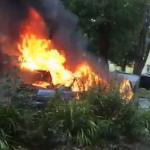 Видео автопожара в Смоленске выложили в Сеть