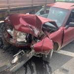 Под Смоленском жёстко столкнулись трактор и иномарка