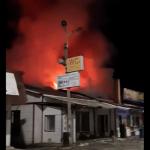 В сети появилось видео пожара, случившегося в кафе под Смоленском