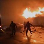 На Медгородке горели автомобили. Массовый пожар попал на видео