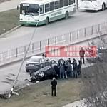 Момент опрокидывания кроссовера в Смоленской области попал в объектив видеорегистратора