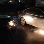 В областном центре Mitsubishi намеренно таранил припаркованный Volkswagen