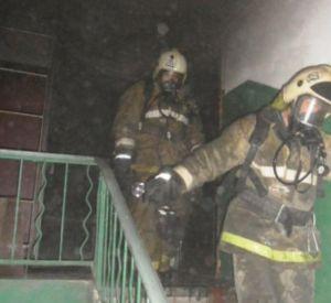 Во время пожара едва не сгорели люди