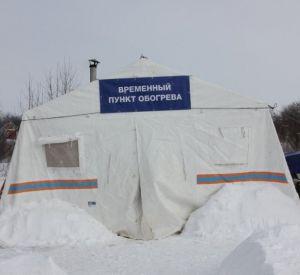 Под Смоленском поставили дополнительные пункты обогрева военных