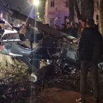 Момент ДТП с погибшим полицейским в Вязьме попал на камеры (видео)