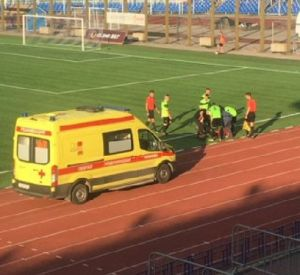 Появилась информация о состоянии смоленского футболиста, потерявшего сознание во время матча