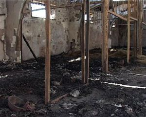 В Смоленской области сгорела конюшня