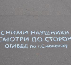 Перед пешеходными переходами появились надписи