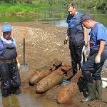 В смоленских реках нашли четыре бомбы и 74 гранаты