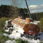 Авария с бензовозом привела к сбою в движении электропоездов на Московско-Смоленском отделении МЖД