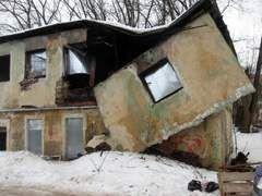 В центре Смоленска рухнул дом
