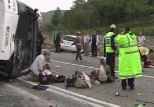 В Смоленской области перевернулся пассажирский автобус: два человека погибли