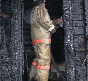 Под Смоленском сгорел дом