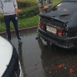 В Смоленске на кольце произошло ДТП (фото)