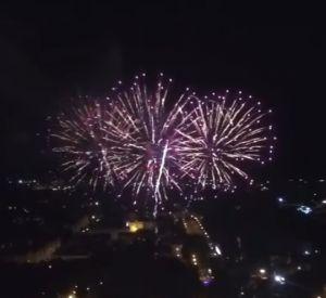 Праздничный салют сняли на видео с высоты птичьего полета