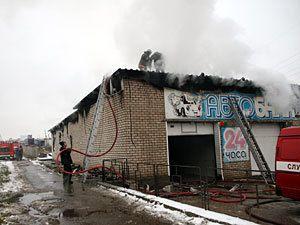 В Смоленске вчера сгорела «Автобаня»